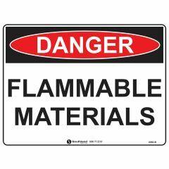 600x450mm - Metal - Danger Flammable Materials