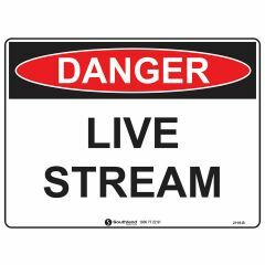 300x225mm - Metal - Danger Live Stream