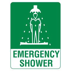 600x450mm - Corflute - Emergency Shower