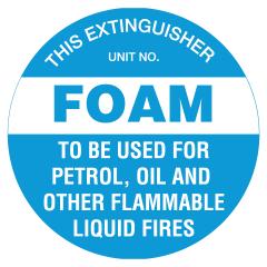 200mm Disc - Poly - Fire Extinguisher Marker - Foam (Blue)