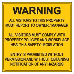 Farm Gate Sign, 600 x 600mm, Metal