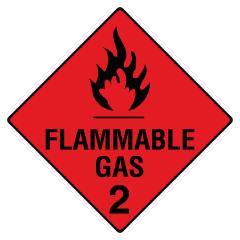 270x270mm - Metal - Flammable Gas 2