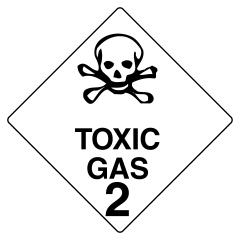 150x150mm - Self Adhesive - Toxic Gas 2