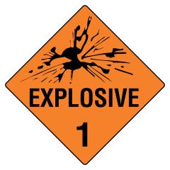 270x270mm - Self Adhesive - Explosive 1