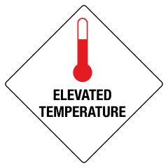 150x150mm - Self Adhesive - Elevated Temperature