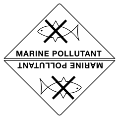 50x50mm - Self Adhesive - Marine Pollutant