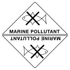 100x100mm - Self Adhesive - Marine Pollutant