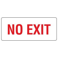 300x100mm - Self Adhesive - No Exit