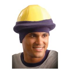 Stretch Cap Half Face Style Hardhat Beanie, Blue
