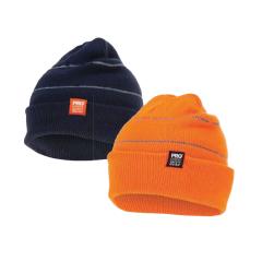 Prochoice Hi Vis Orange Beanie with Retro-Reflective Stripes