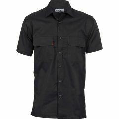 DNC Three Way Cool Breeze Short Sleeve Shirt - Black