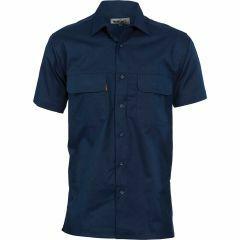 DNC Three Way Cool Breeze Short Sleeve Shirt - Navy