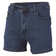 DNC Mens Stretch Denim Shorts Blue