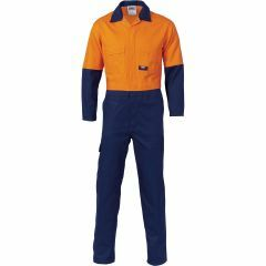 DNC 3851 311gsm Cotton Drill Coveralls, Org/Navy