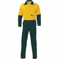 DNC 3851 311gsm Cotton Drill Coveralls, Yel/Bottle