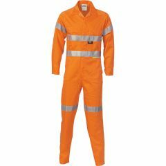 DNC 3854 311gsm Hoop Reflective Cotton Drill Coveralls, Orange