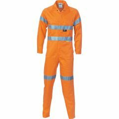 DNC 3956 190gsm Hoop Reflective Cotton Drill Coveralls, Orange