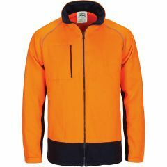DNC HiVis Full Zip Fleecy Sweat Shirt, Orange/Navy