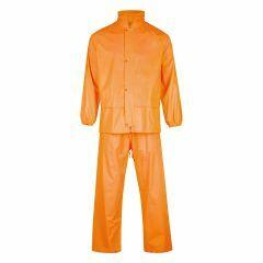 Safetek HiVis Nylon Rainwear Set, Orange
