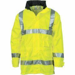 Downpour HiVis Reflective Rain Jacket, Yellow