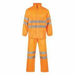 SAFETEK HiVis Reflective Nylon Rain Set, Orange