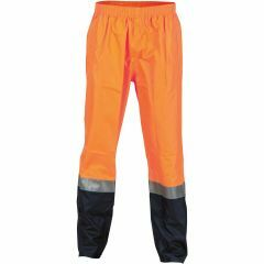 DNC HiVis Reflective Lightweight Rain Pants, Orange/Navy