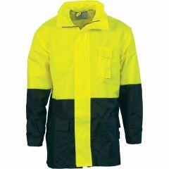 DNC HiVis Lightweight Rain Jacket, Yellow/Navy