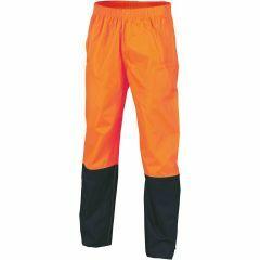 HiVis Lightweight Rain Pants, Orange/Navy