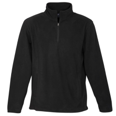 BIZ Mens Trinity 1/2 Zip Pullover, Black