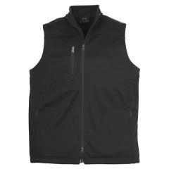 BIZ Mens Plain Soft Shell Vest, Black