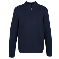 BIZ Mens 80/20 1/2 Zip Pullover, Black
