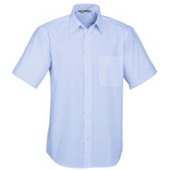 BIZ Mens Base Short Sleeve Shirt, Light Blue