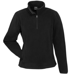 BIZ Ladies Trinity 1/2 Zip Pullover, Black