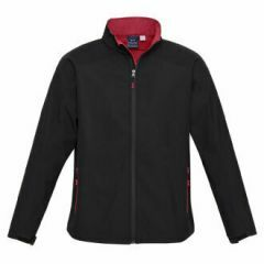BIZ Mens BIZ TECH Geneva Jacket, Black/Red