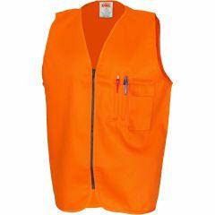 DNC Patron Saint Flame Retardant Cotton Drill Safety Vest, Orange