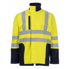 FireBear PPE2 (ATPV 23.0) ARC Rated HiVis Softshell Jacket, Yel/Navy