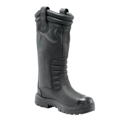 Steel Blue 382835 MACKAY 370mm High Pull-on Style Mining Boot, Black