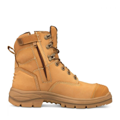 Oliver 55-332Z Lace up ZIP SIDED Safety Boot, Wheat with Bumpcap