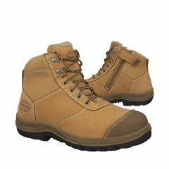 Oliver 34-662 Zip-Side Lace Up Safety Boots, Wheat