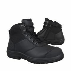 Oliver 34-660 Zip-Side Lace Up Safety Boots, Black
