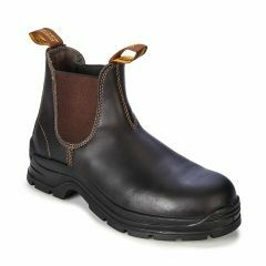 311 Blundstone Workfit Brown Waxy Elastic Side Boot