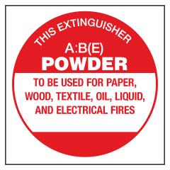 ECONO ABE - 190x190 Poly - Fire Extinguisher Identification Sign
