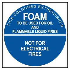 ECONO FOAM - 190x190 Poly - Fire Extinguisher Identification Sign
