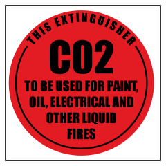 ECONO CO2 - 190x190 Poly - Extinguisher Identification Sign