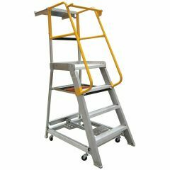 Gorilla Order picking ladder, 1.2m (4ft), Aluminium  - 200kg Industrial