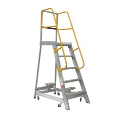 Gorilla Order picking ladder, 1.5m (5ft), Aluminium  - 200kg Industrial