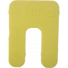 **DISC**NP Horse Shoe Window Packer, Yellow - 1.0mm x 50mm /bag 200
