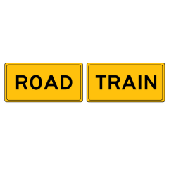 Road Train - 2 Pieces, 510 x 250 Metal, Class 2 Reflective