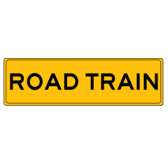 1020 x 250 Metal, Class 2 Reflective - Road Train