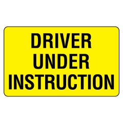 450x300mm - Metal - Driver Under Instruction